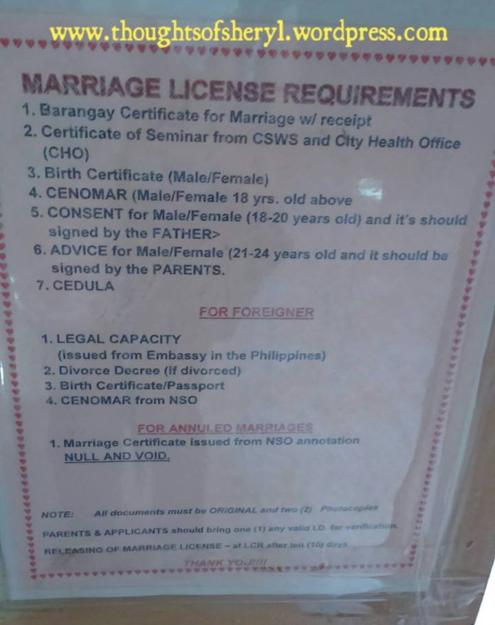 How to Get a Marriage License for Korean Filipino Couples
