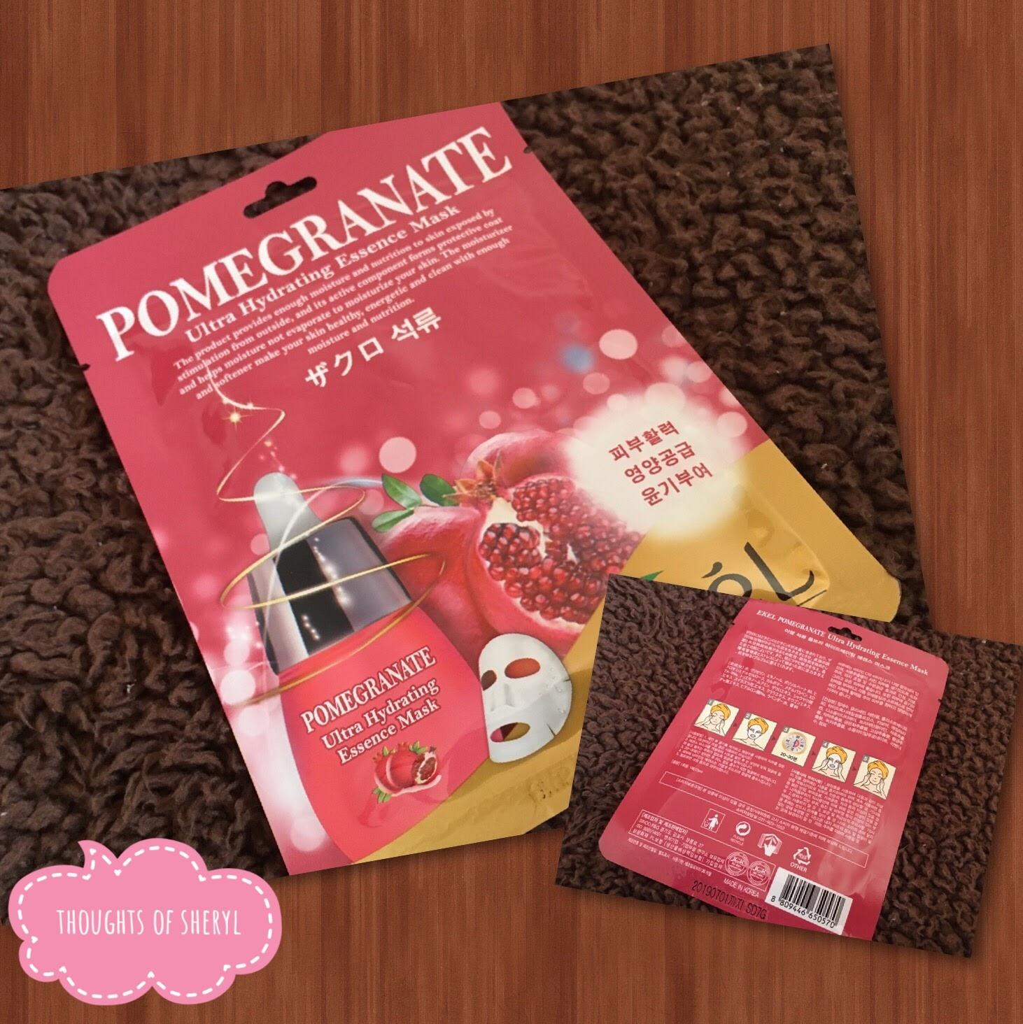 ekel ultra hydrating essence mask pomegranate review