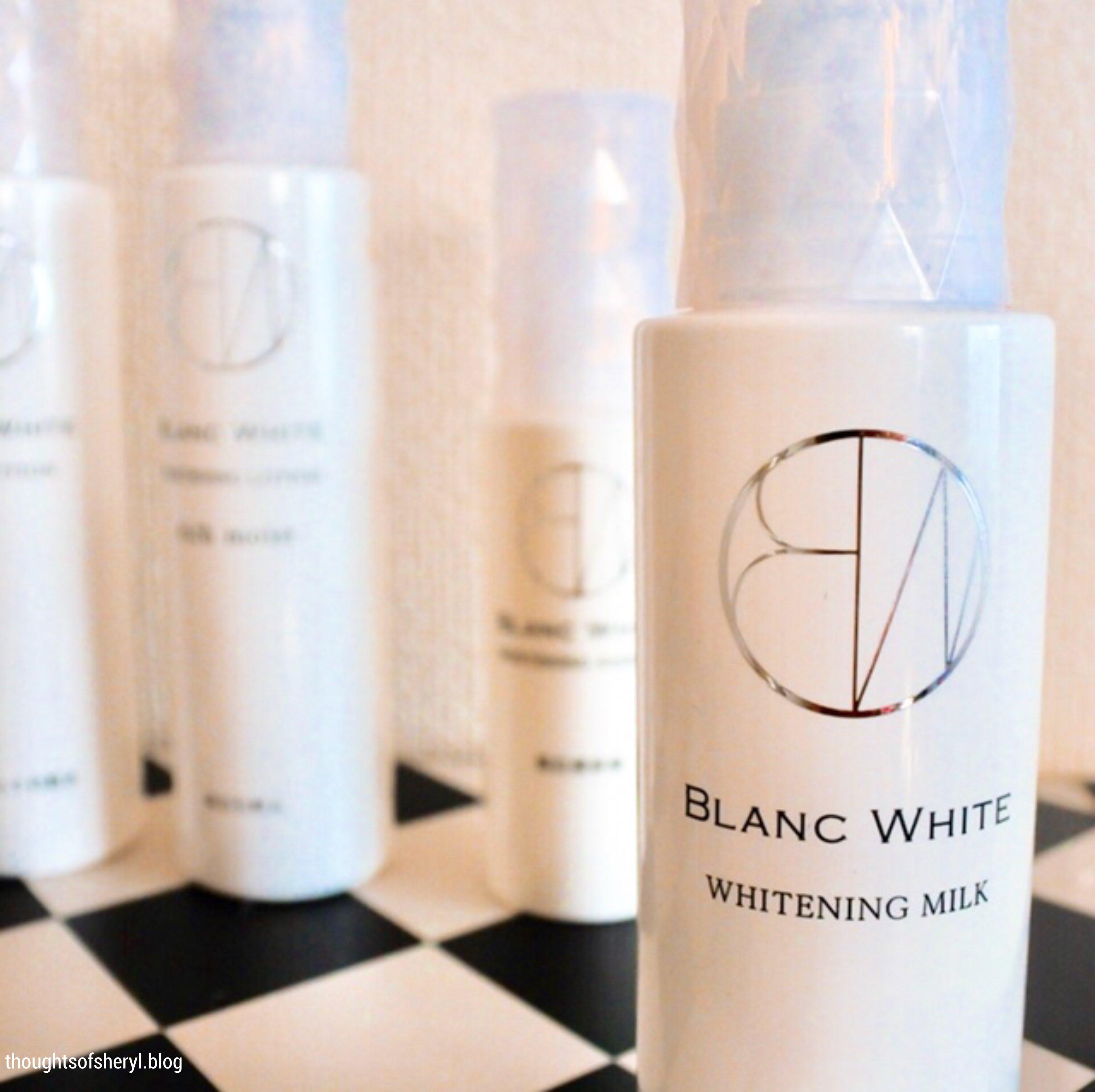 review blanc white whitening milk