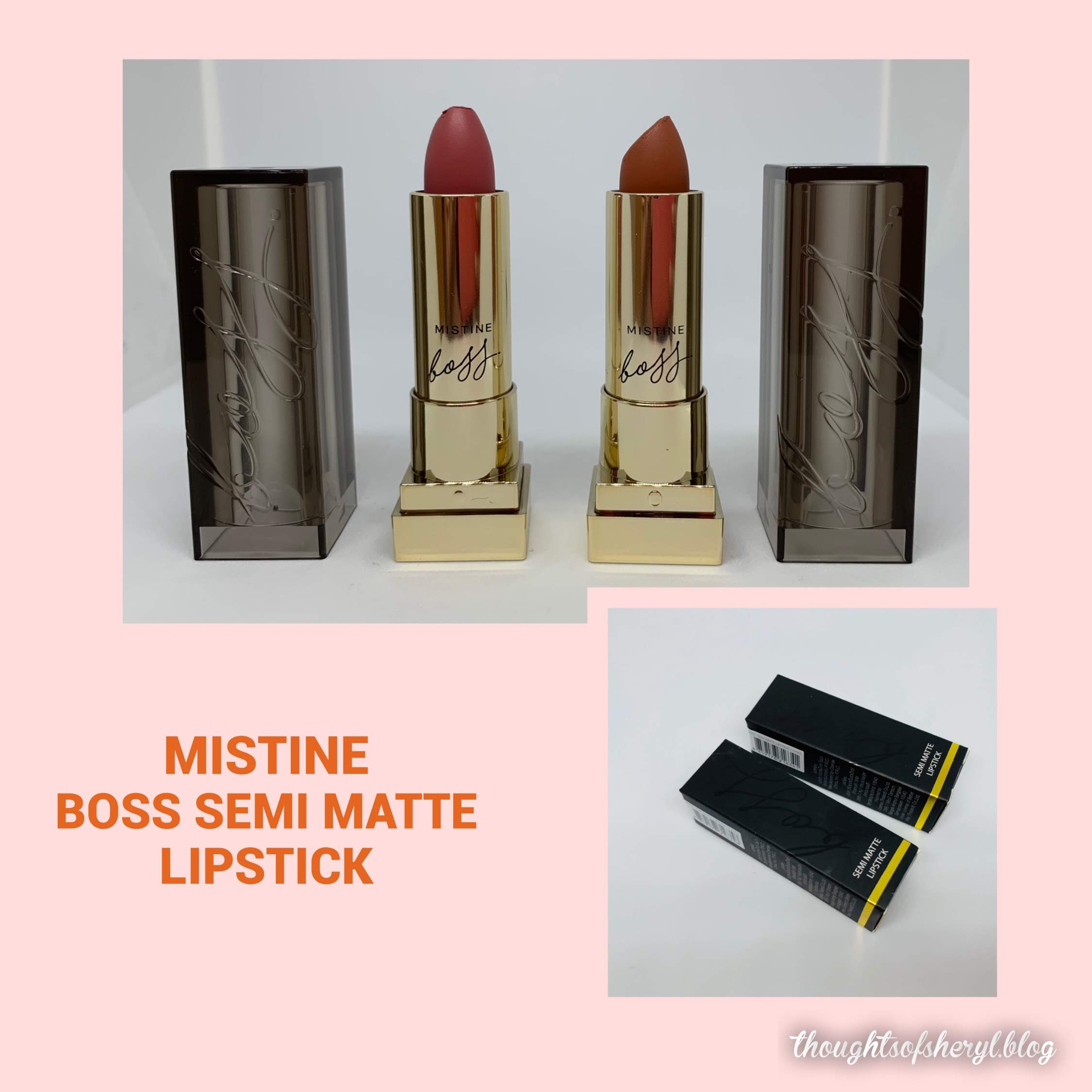 mistine boss semi matte lipstick review