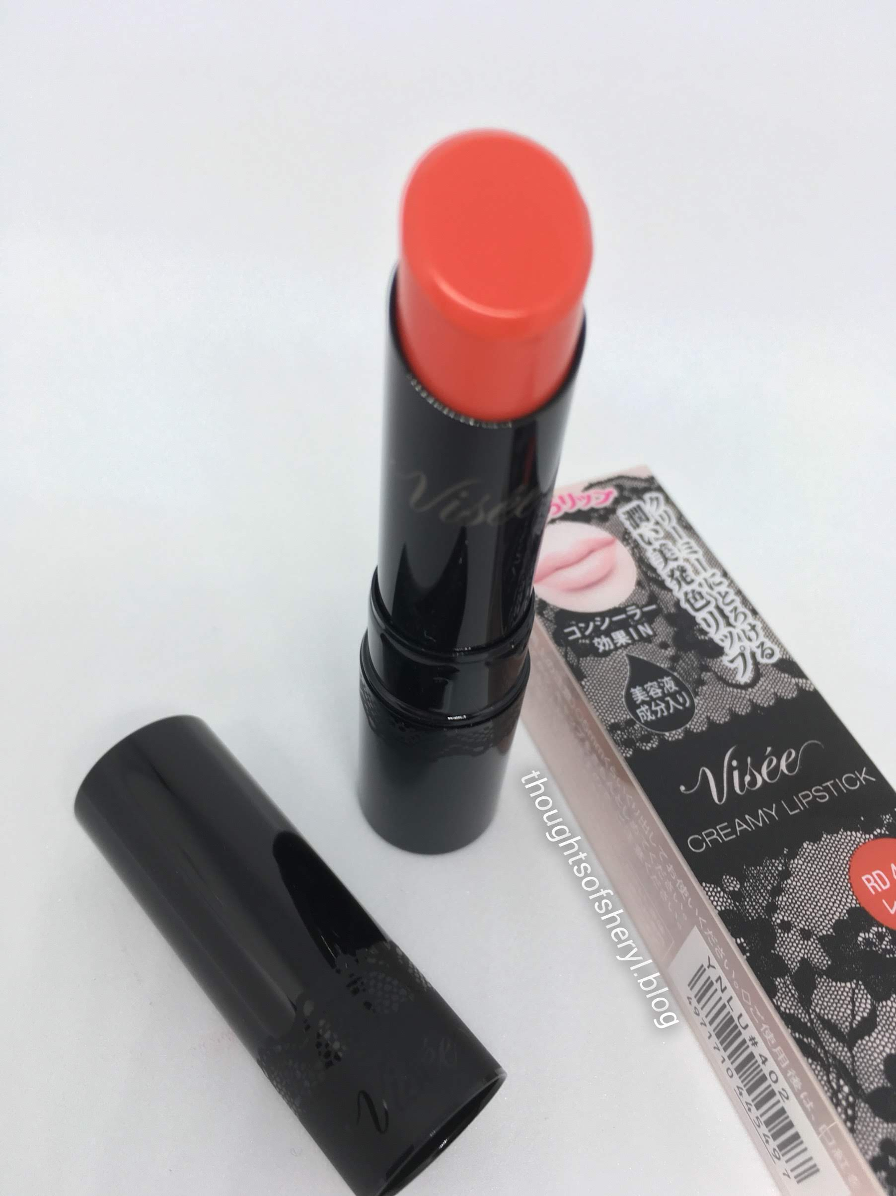 visee creamy lipstick rd 402 review