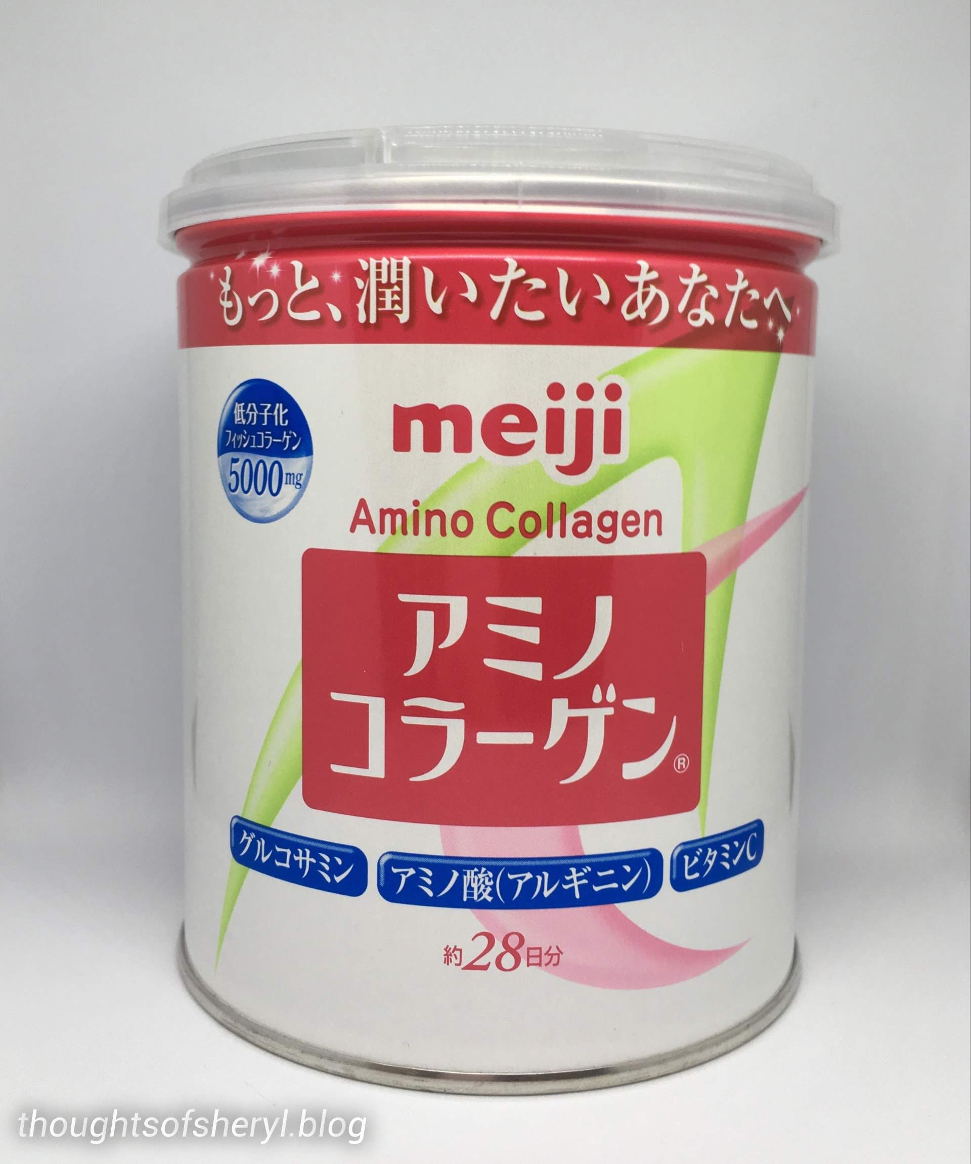 review meiji amino collagen powder