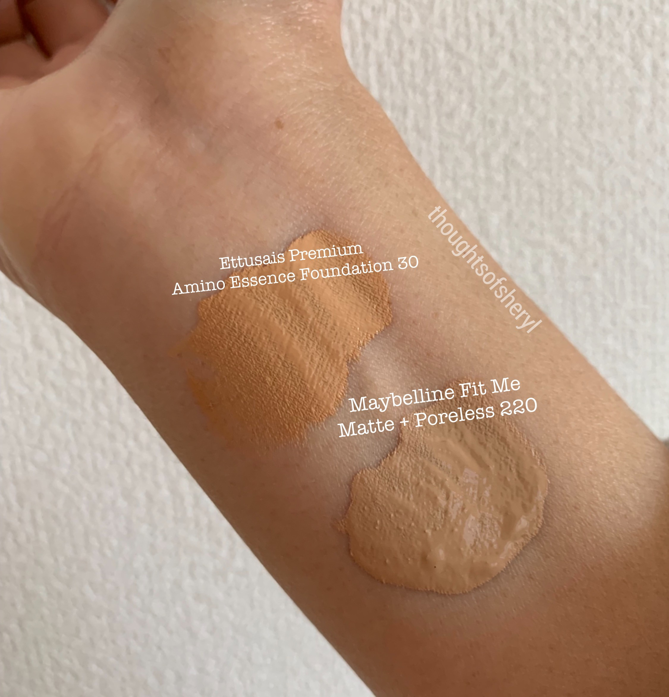 maybelline fit me matte poreless 220 review