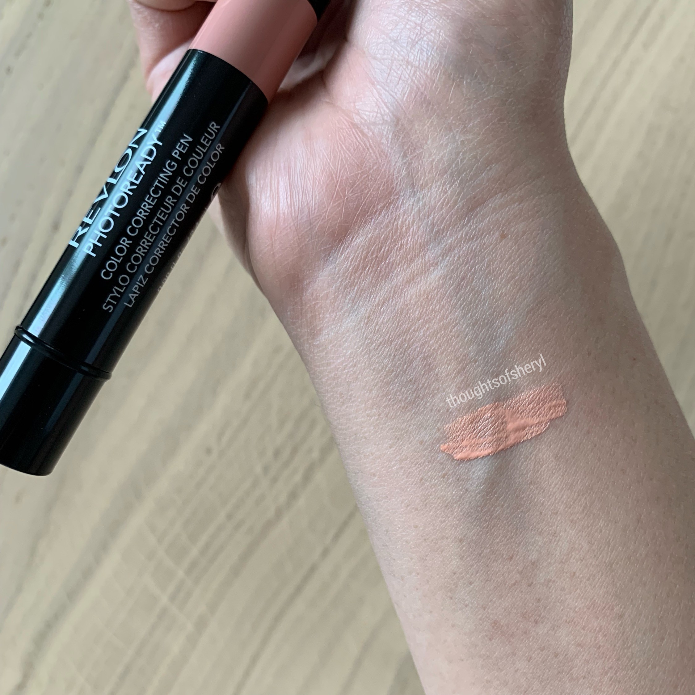 revlon photoready color correcting pen peach review