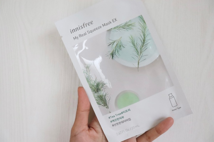 review innisfree my real squeeze mask ex tea tree