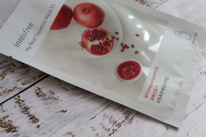 Review: Innisfree My Real Squeeze Mask EX (Pomegranate)